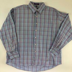 Alan Flusser Mens Long Sleeve Button Shirt XXL